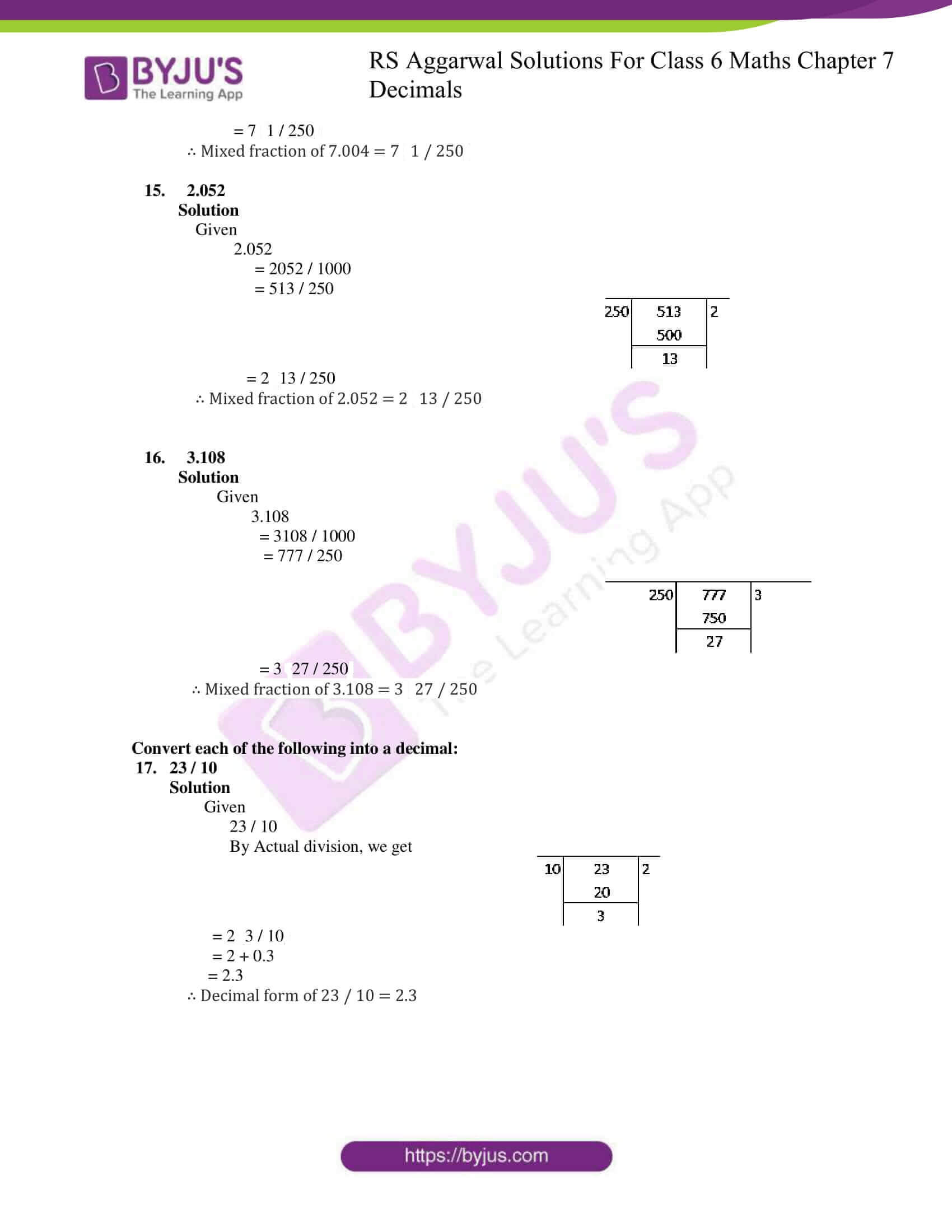 rs aggarwal solutions for class 6 maths chapter 7 deci ex b 4