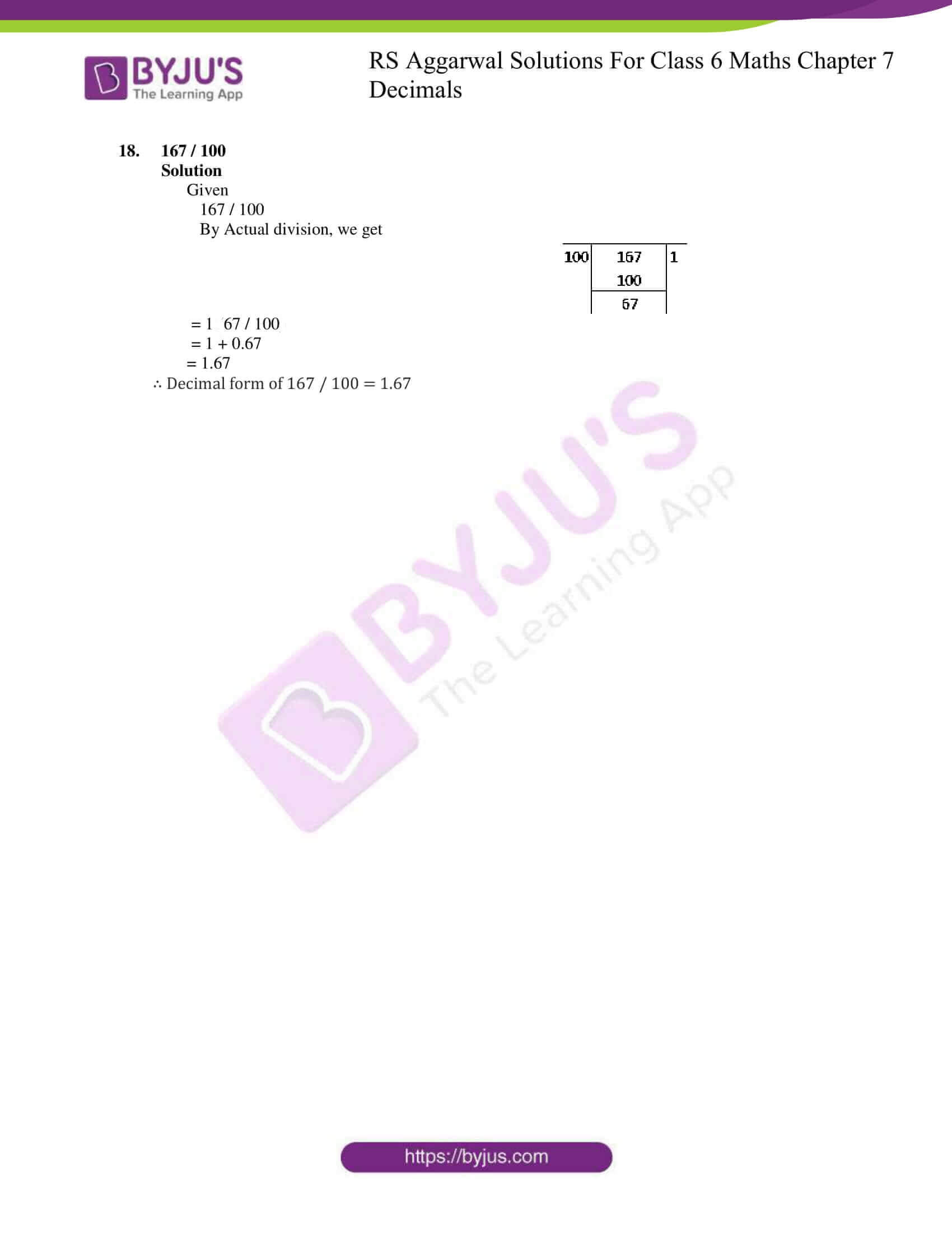 rs aggarwal solutions for class 6 maths chapter 7 deci ex b 5