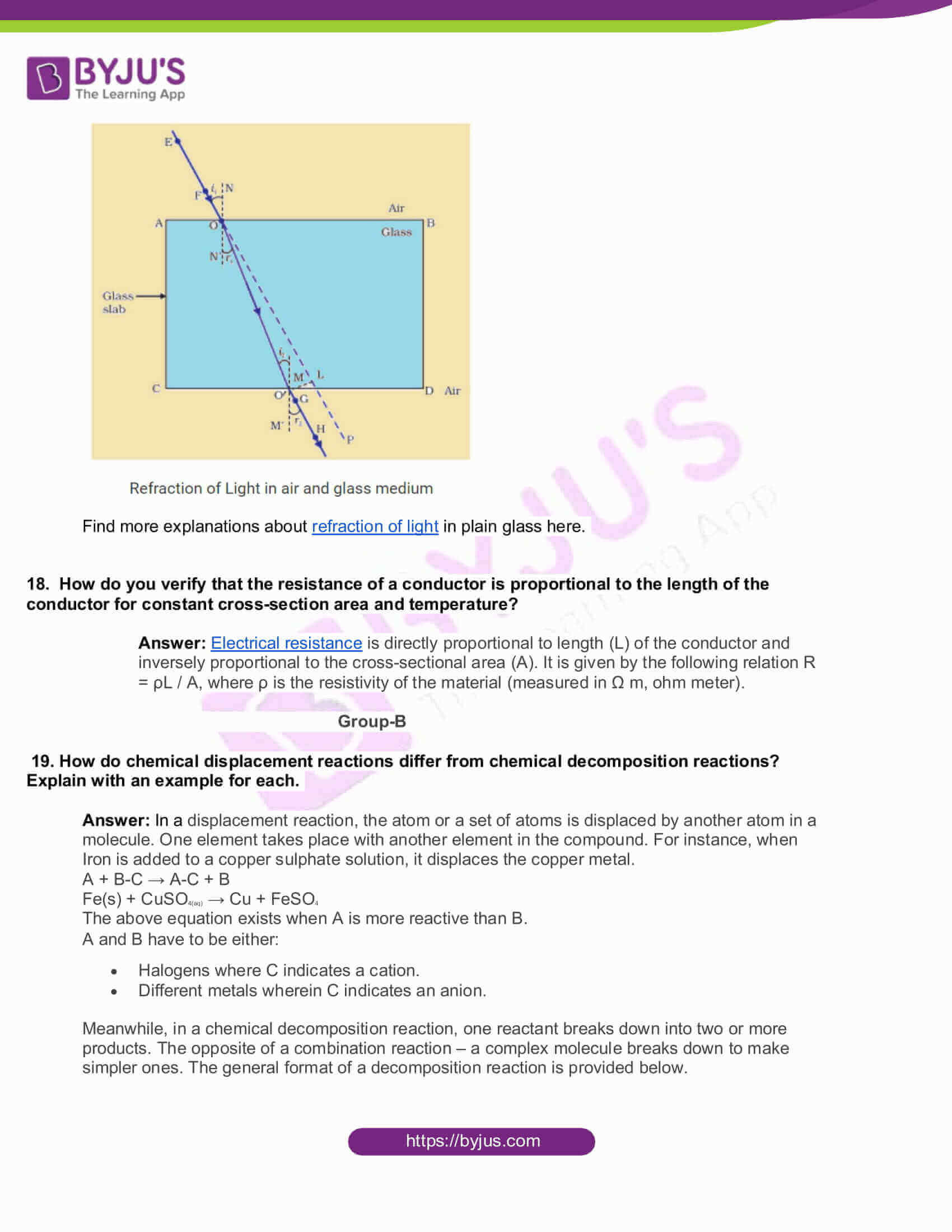 AP Board Class 10 Science Paper 1 2016 Question Paper with Solutions 06