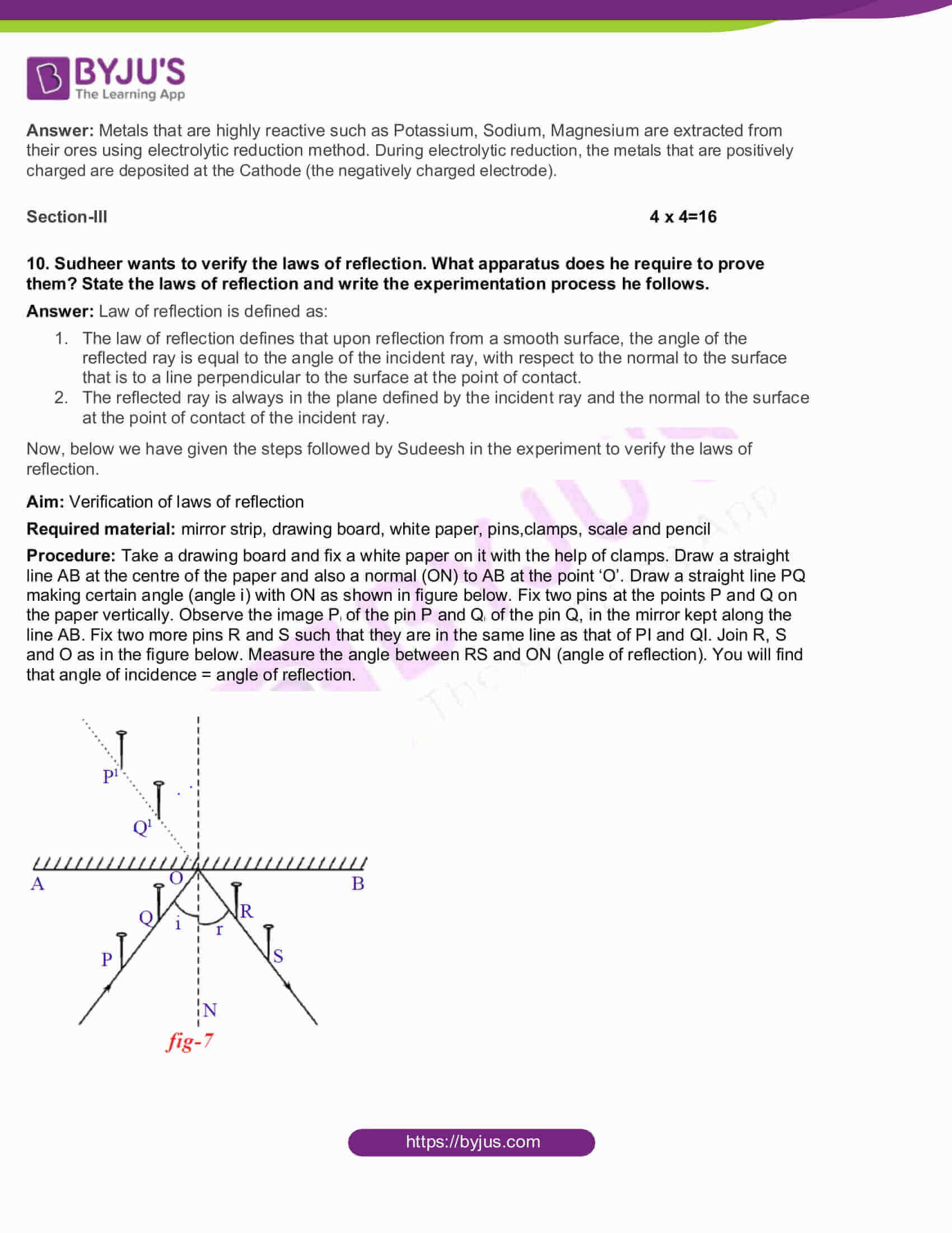 AP Board Class 10 Science Paper 1 2017 Question Paper with Solutions 03