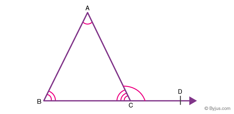 Angle sum property of a triangle theorem 2
