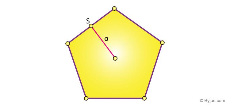Area of pentagon formula