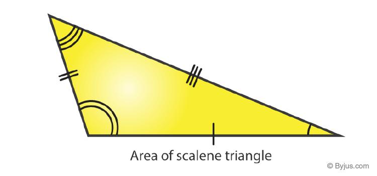 Area of scalene triangle