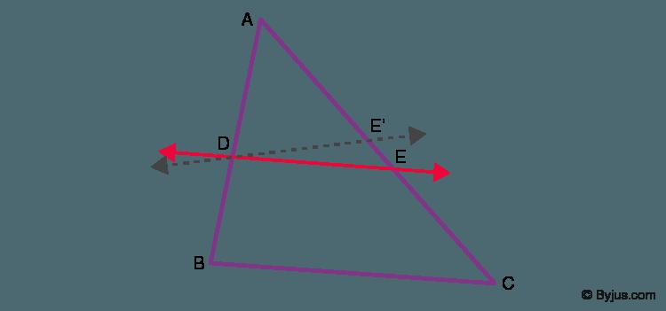 Converse of Basic Proportionality Theorem