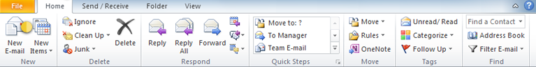 Components of Microsoft Outlook