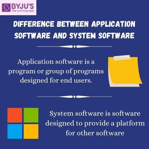 Application Software vs System Software - Difference Between Application Software and System Software