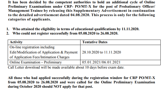 IBPS PO Apply Online 2020 - Registration Re-Opened