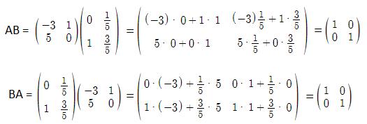 Invertible matrix example solution