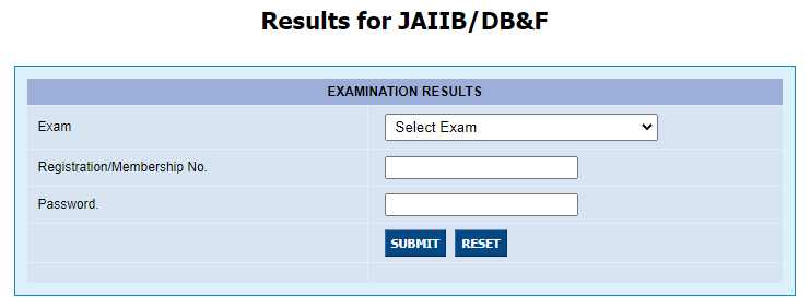 Download JAIIB Result PDF
