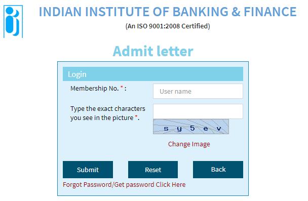 IIBF JAIIB Admit Card