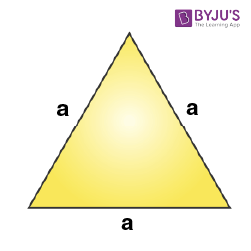 Mensuration Formula for Equilateral triangle