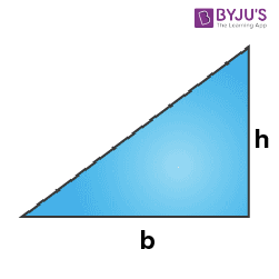 Mensuration Formula for Right triangle