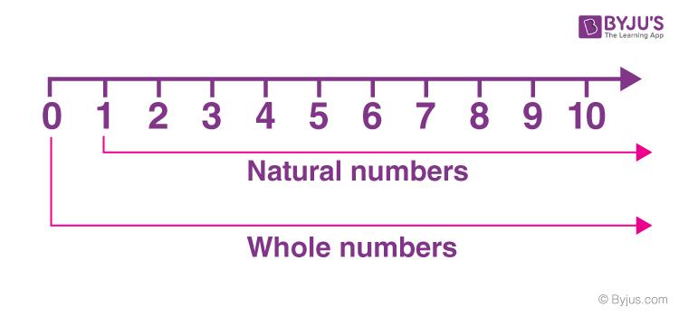 Số tự nhiên và số nguyên trên một dòng số
