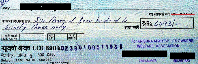 Types of Cheque - Order Cheque