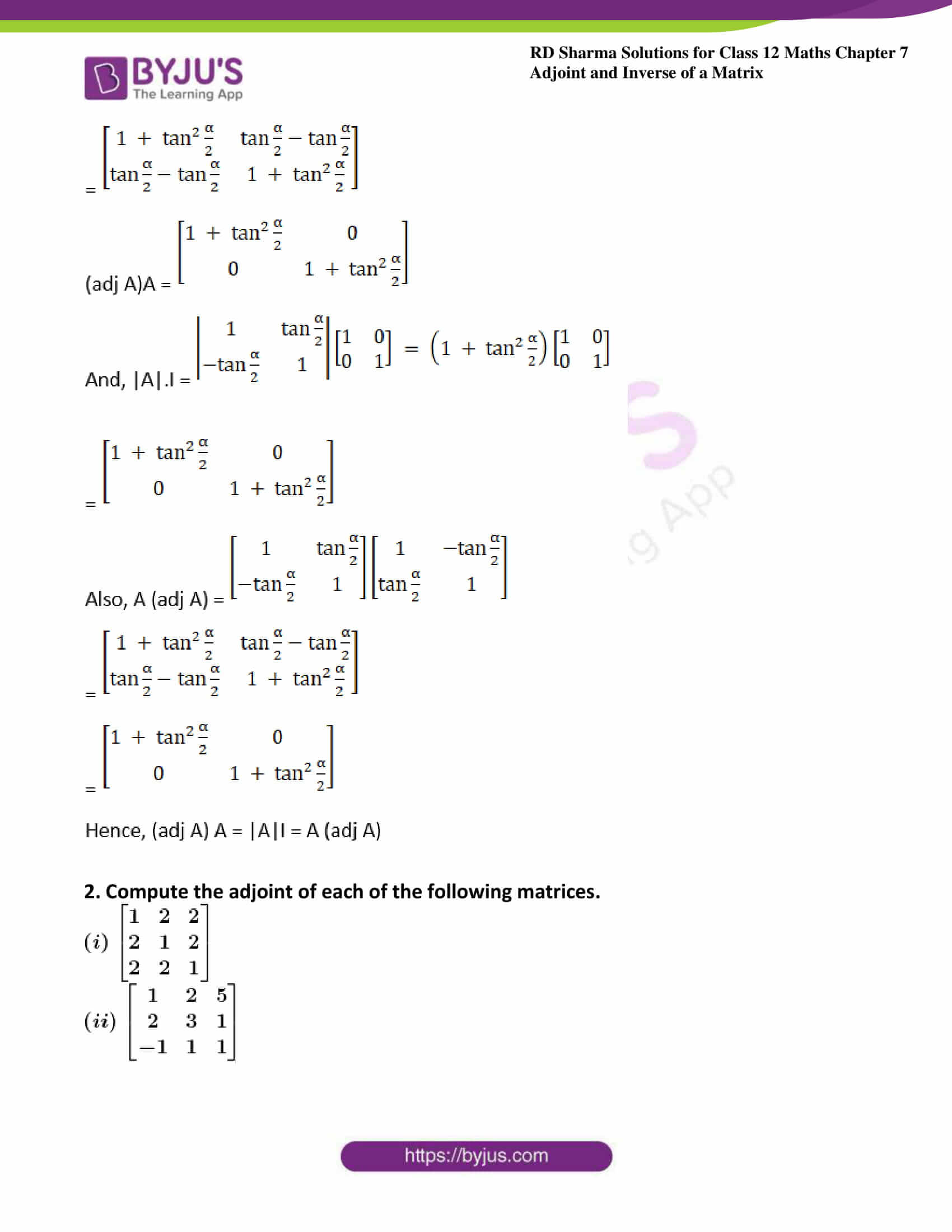 RD Sharma Class 12 Maths Chapter 7 Exercise 1 05