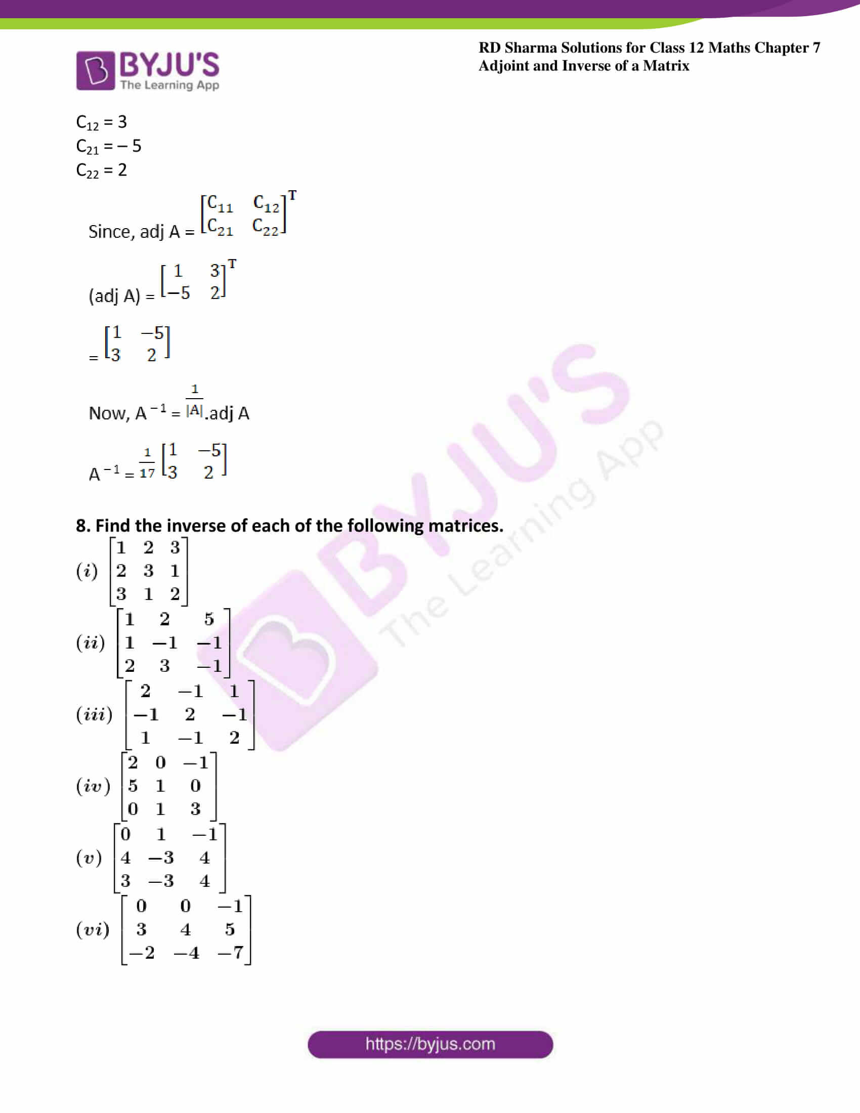 RD Sharma Class 12 Maths Chapter 7 Exercise 1 20