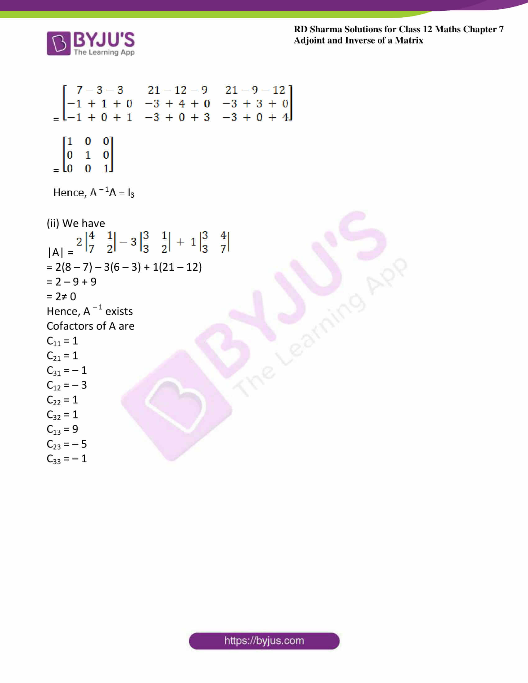 RD Sharma Class 12 Maths Chapter 7 Exercise 1 30