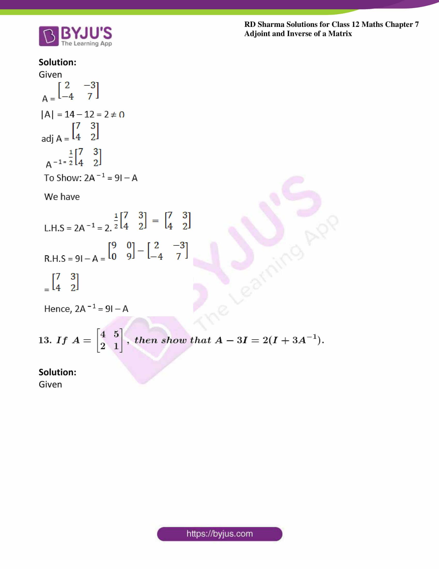 RD Sharma Class 12 Maths Chapter 7 Exercise 1 35