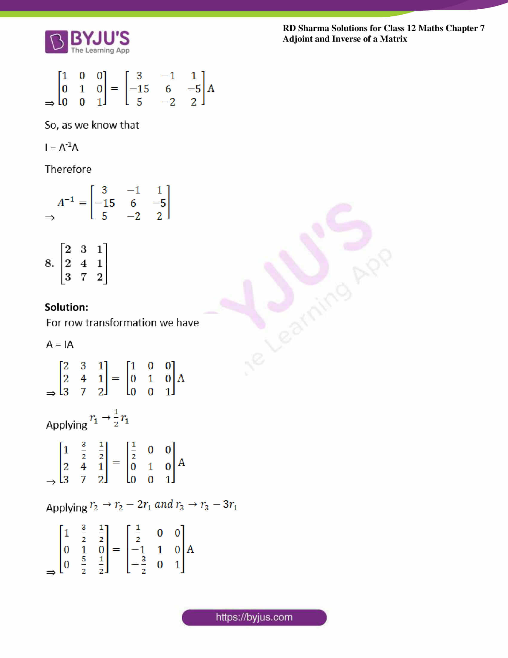 RD Sharma Class 12 Maths Chapter 7 Exercise 2 09