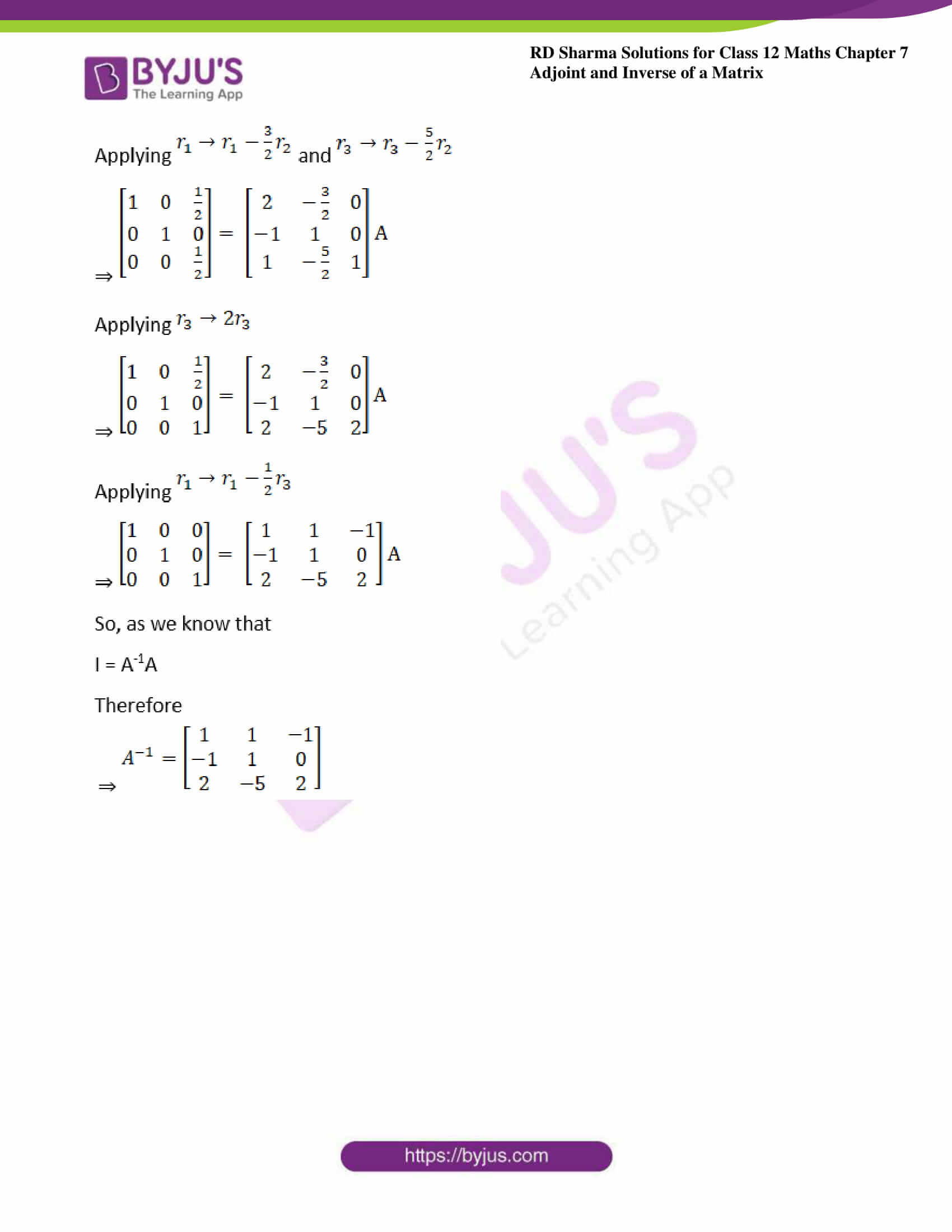 RD Sharma Class 12 Maths Chapter 7 Exercise 2 10