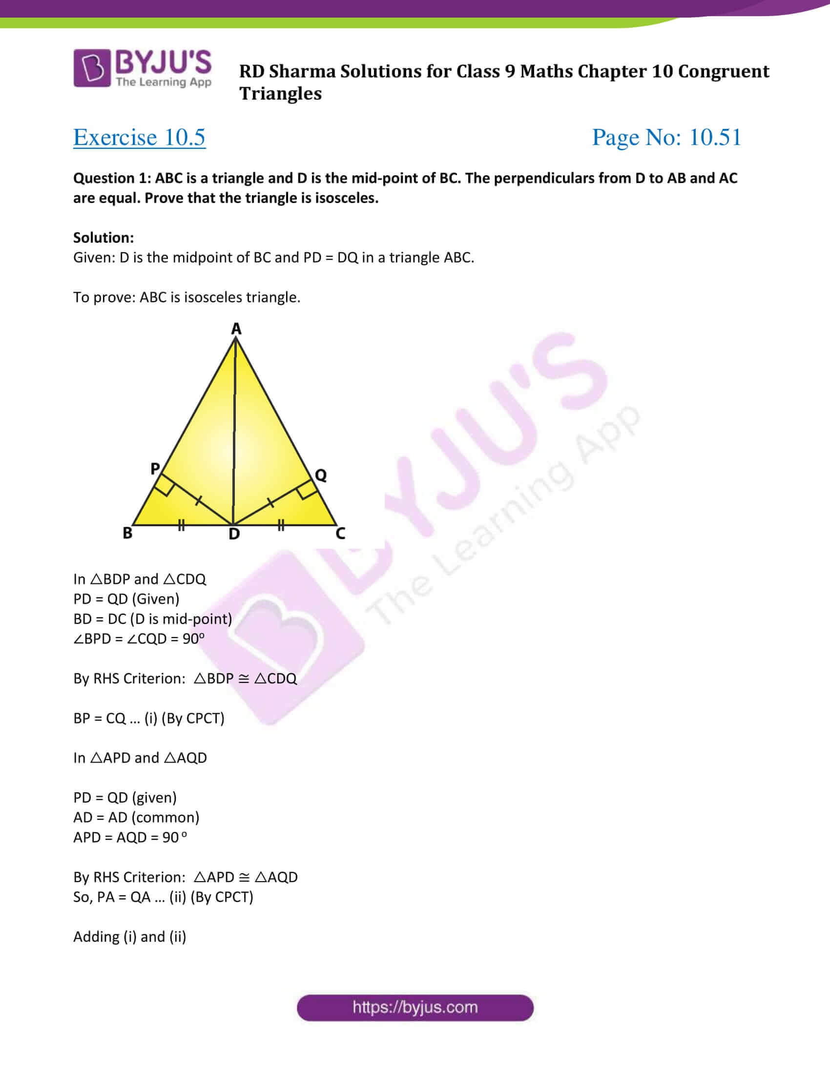 rd sharma class 9 maths chapter 10E