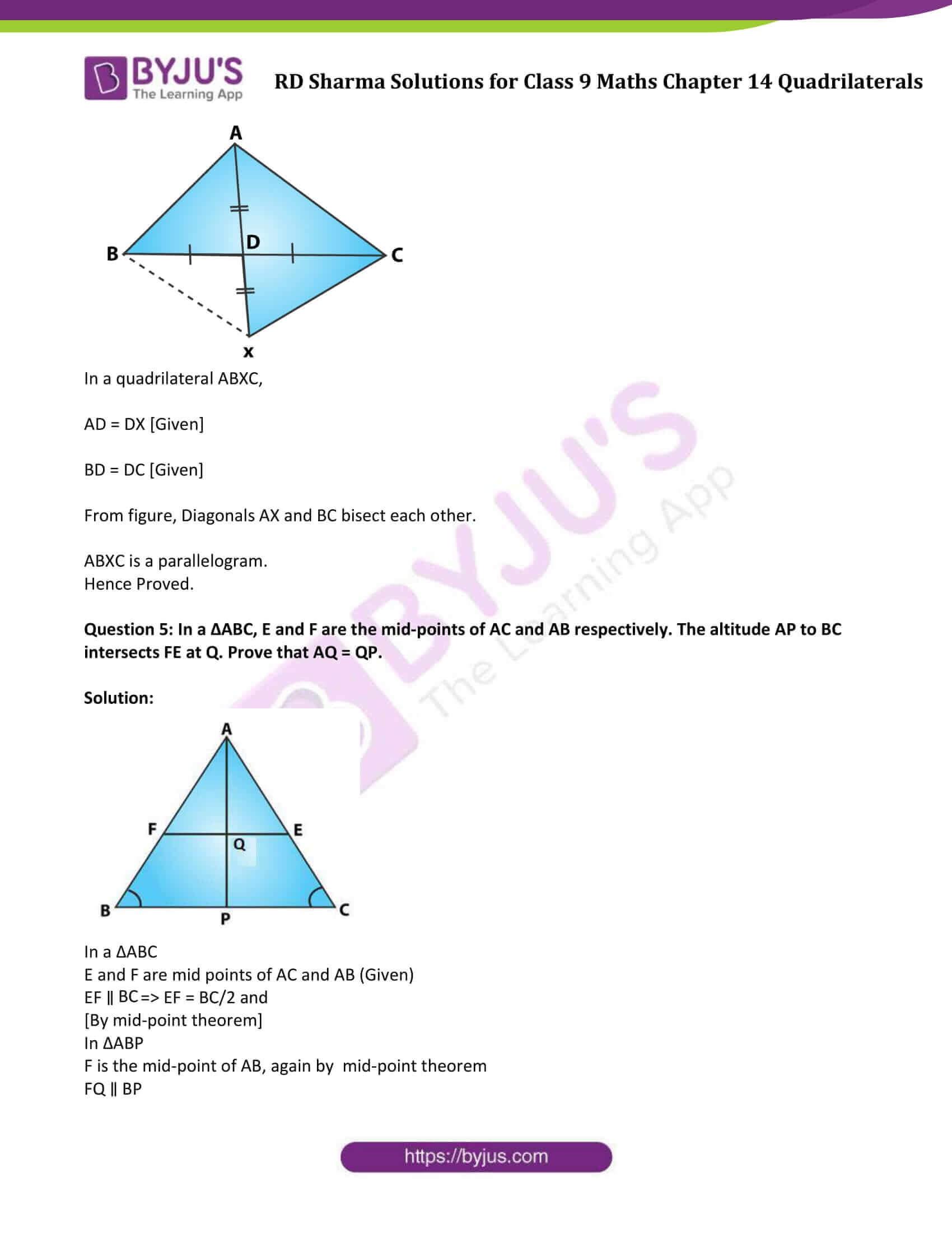 rd sharma class 9 maths chapter 14D