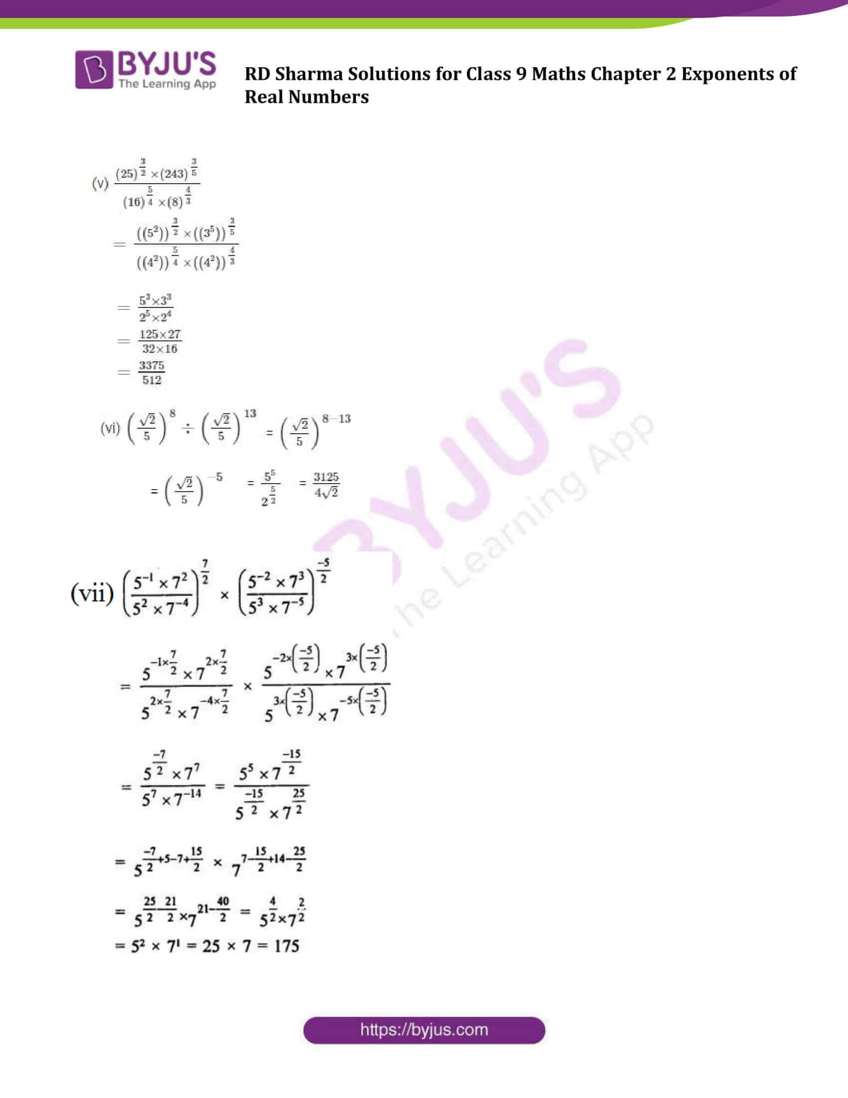 RD Sharma Solution class 9 Maths Chapter 2 Exponents of Real Numbers 13