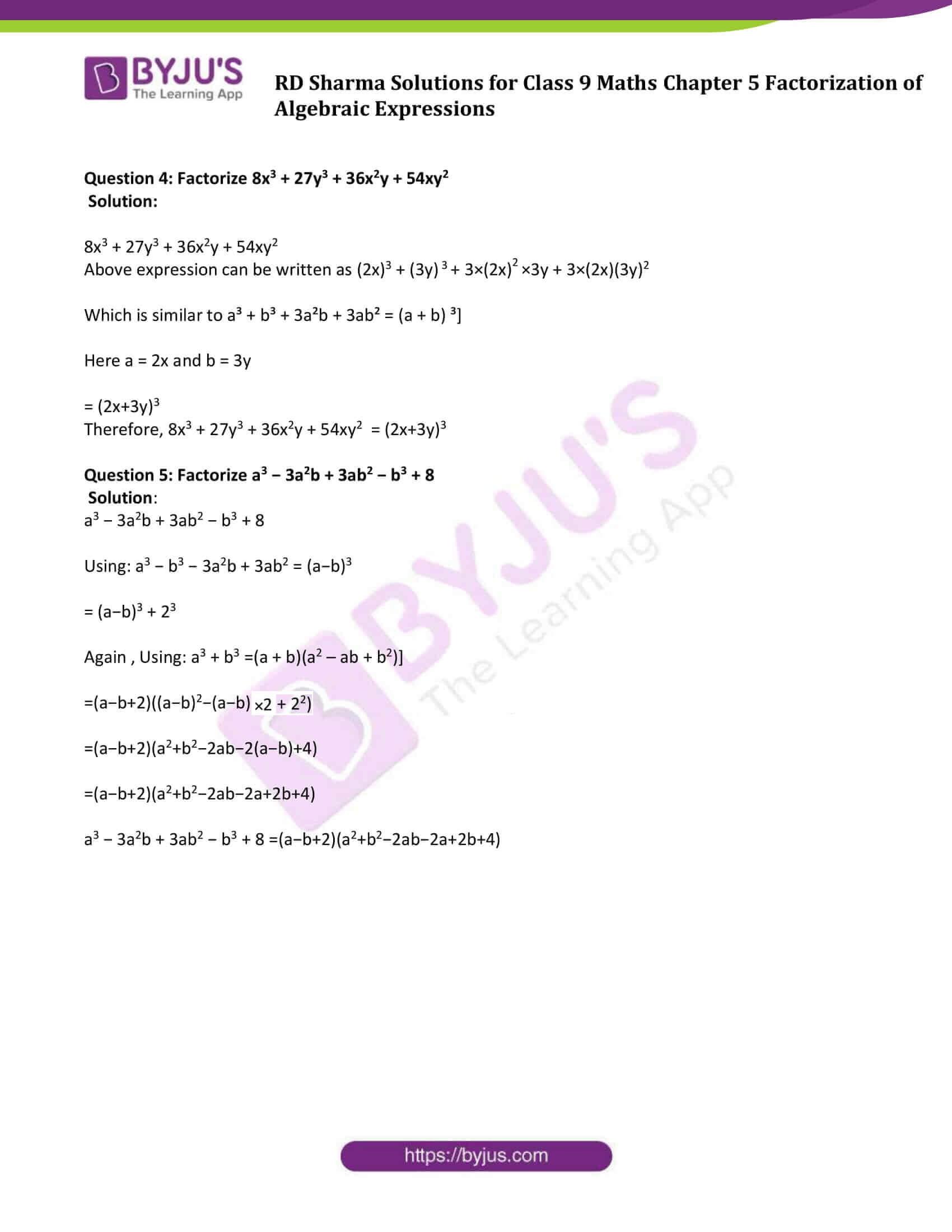 RD Sharma Solution class 9 Maths Chapter 5 13