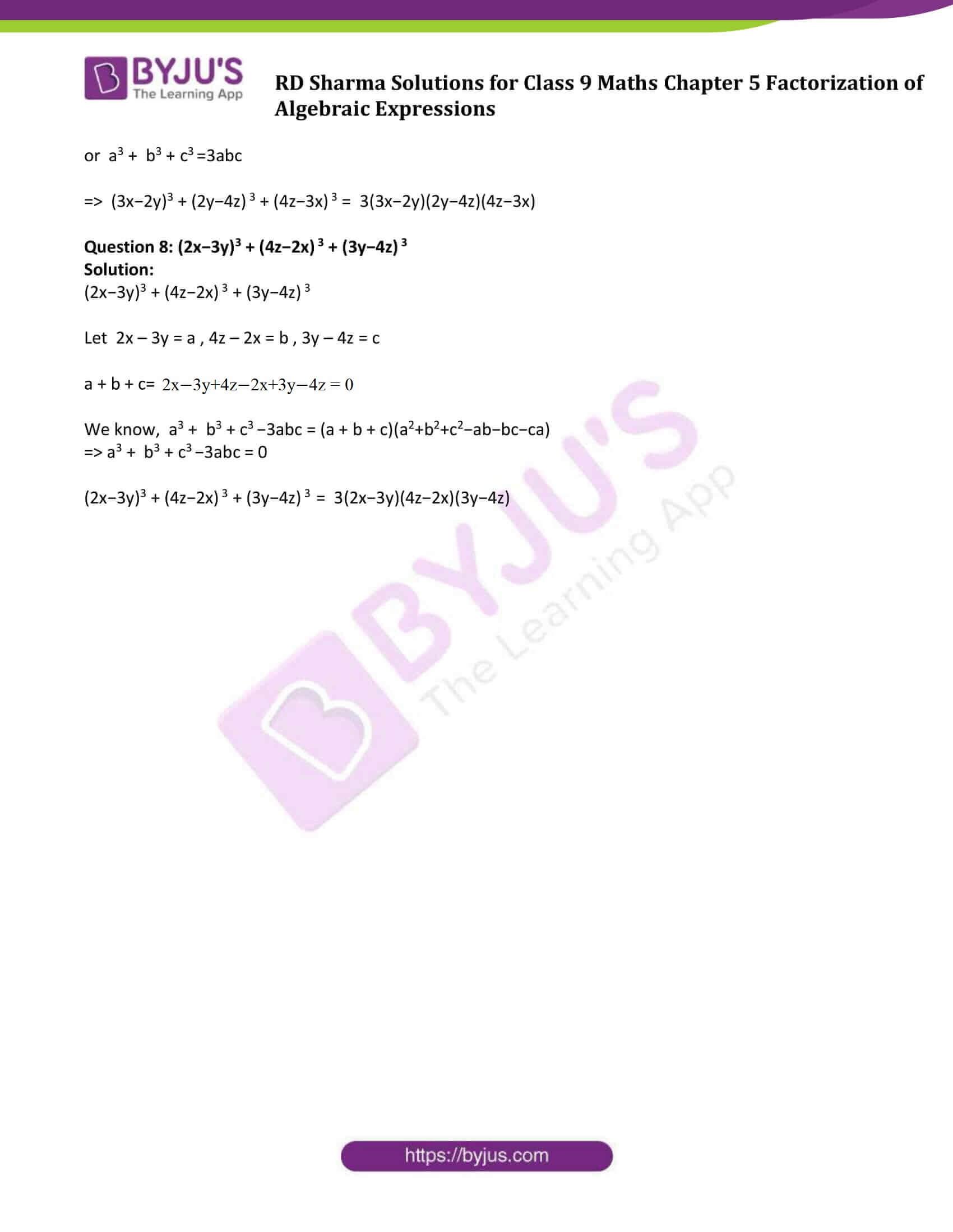 RD Sharma Solution class 9 Maths Chapter 5 16