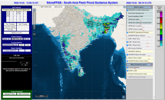 South Asian Flash flood Guidance System