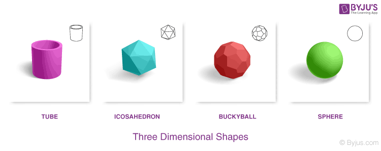 Three Dimensional Shapes examples
