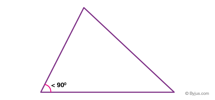 Acute angle triangle