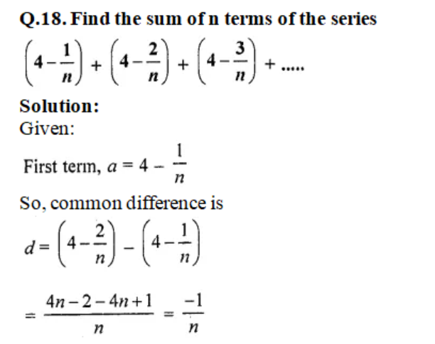 Class 10 Maths Chapter 9 Arithemetic Progressions ex 9.6 - q18