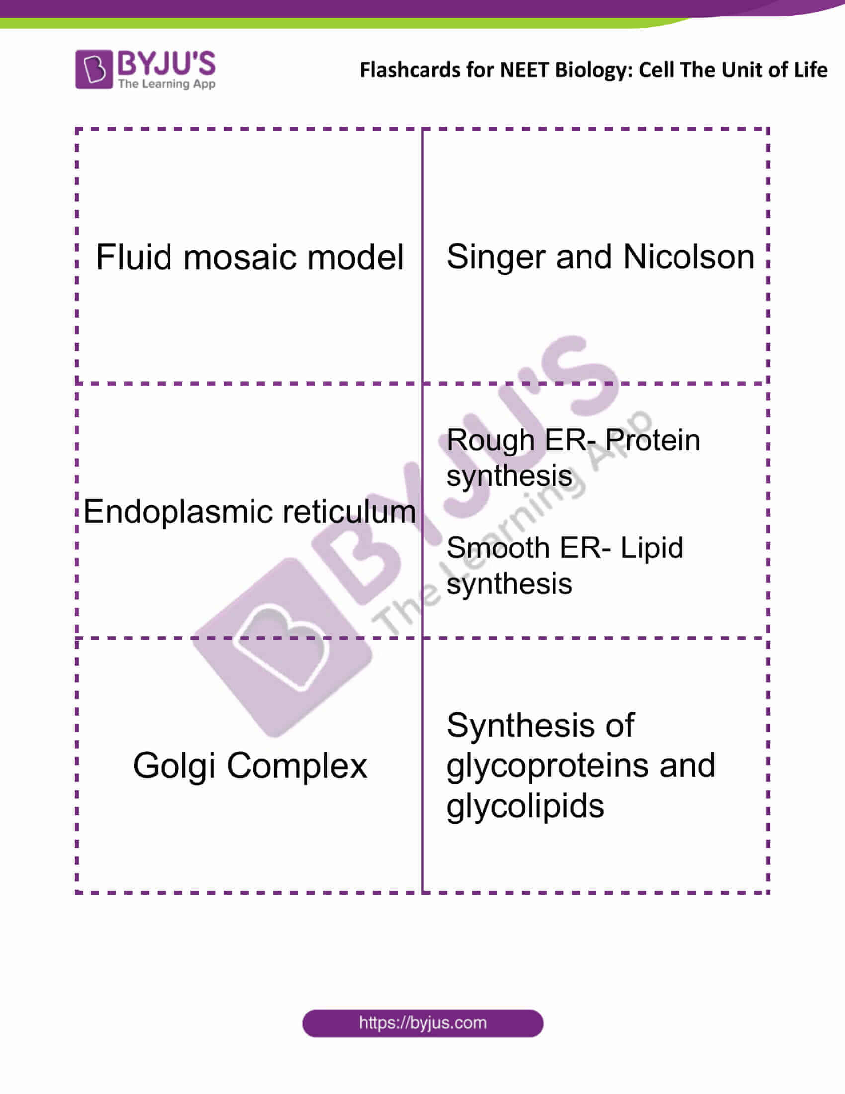 flashcards for neet biology cell the unit of life 5