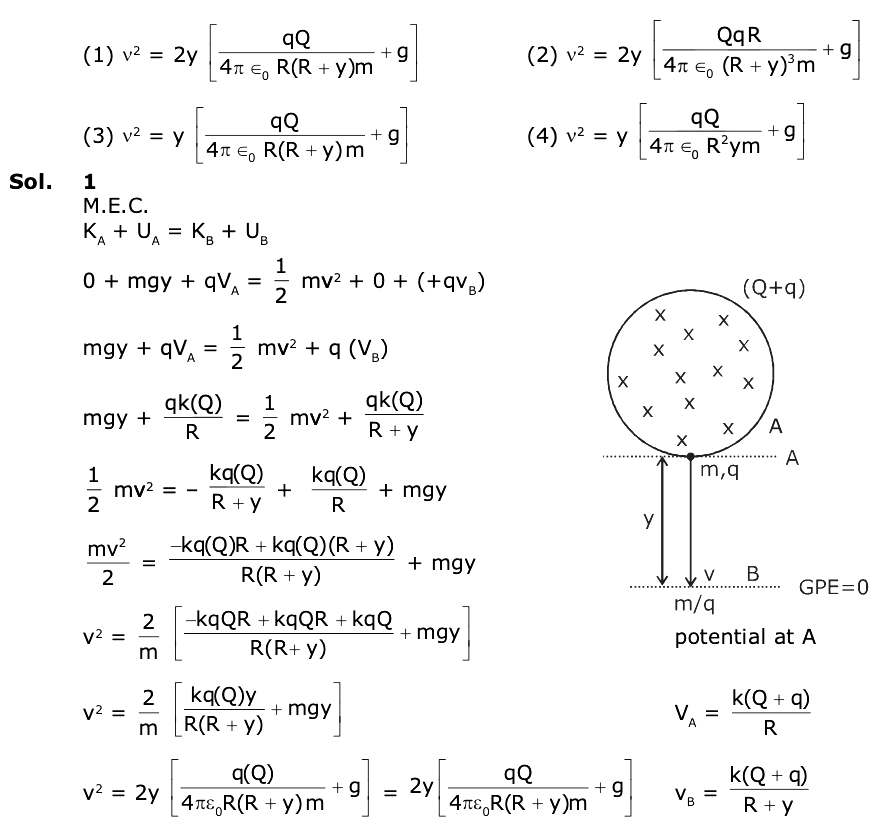 JEE Main 2020 Solved Physics Paper Sept 5 Shift 1