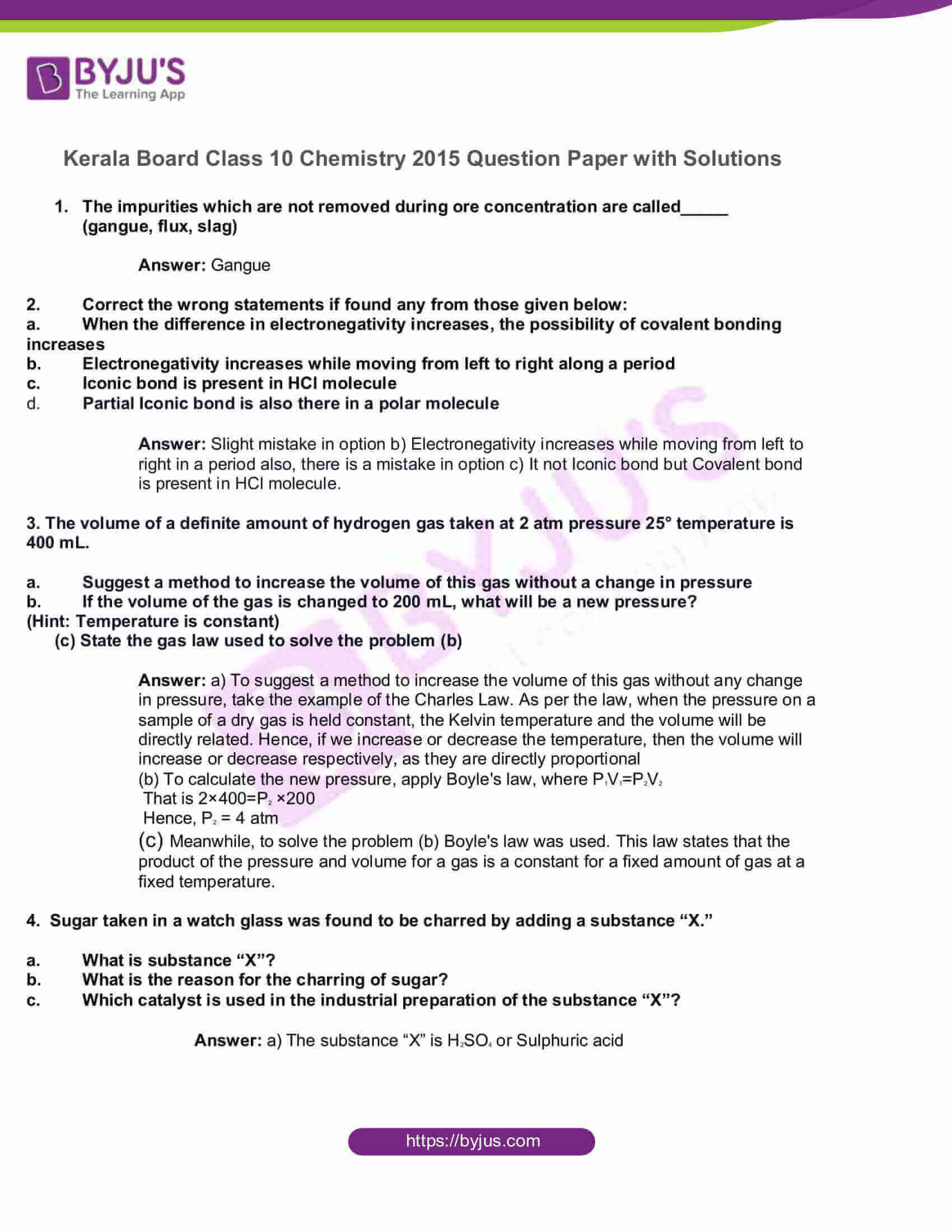 kbpe class 10 chemistry 2015 solutions 1