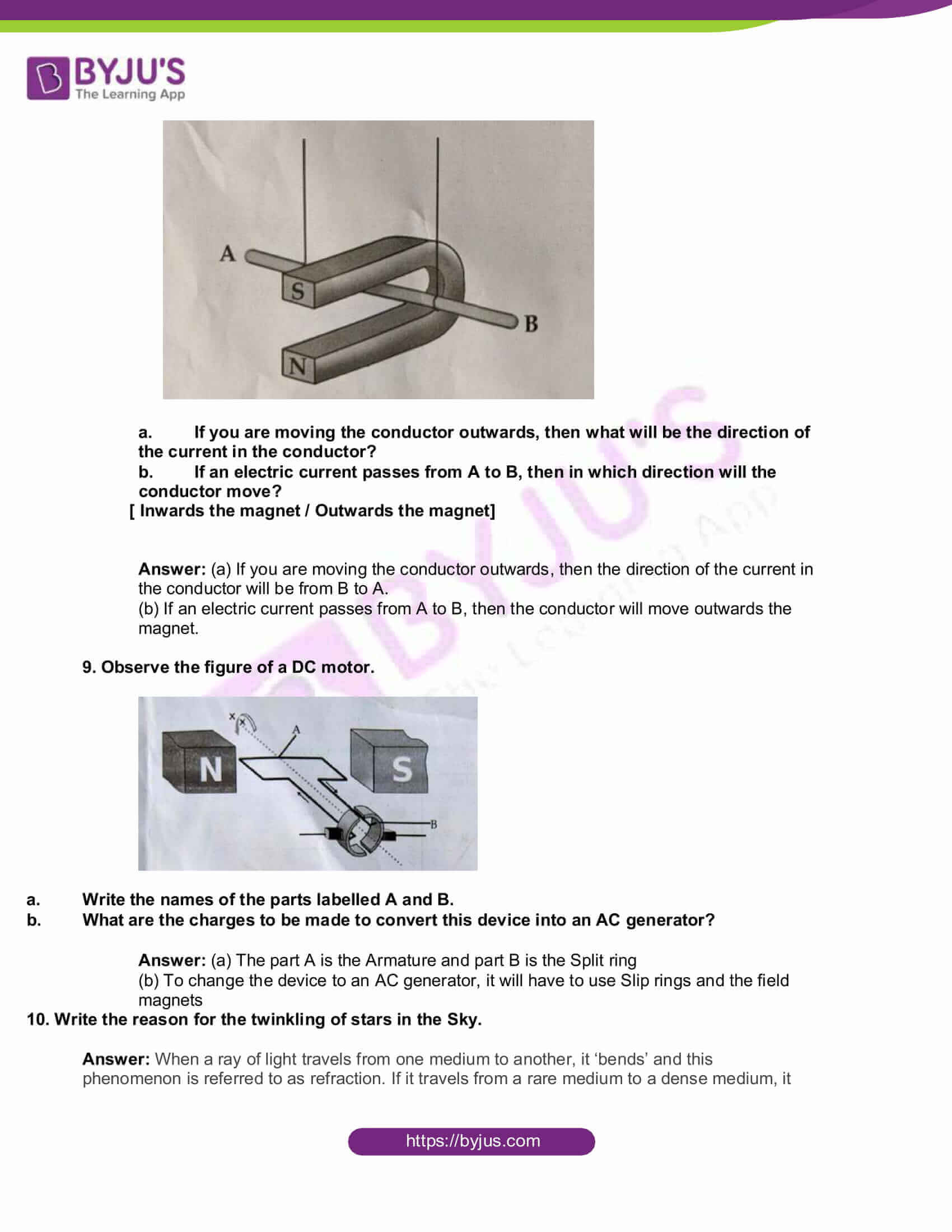 kbpe class 10 physics 2020 solutions 3