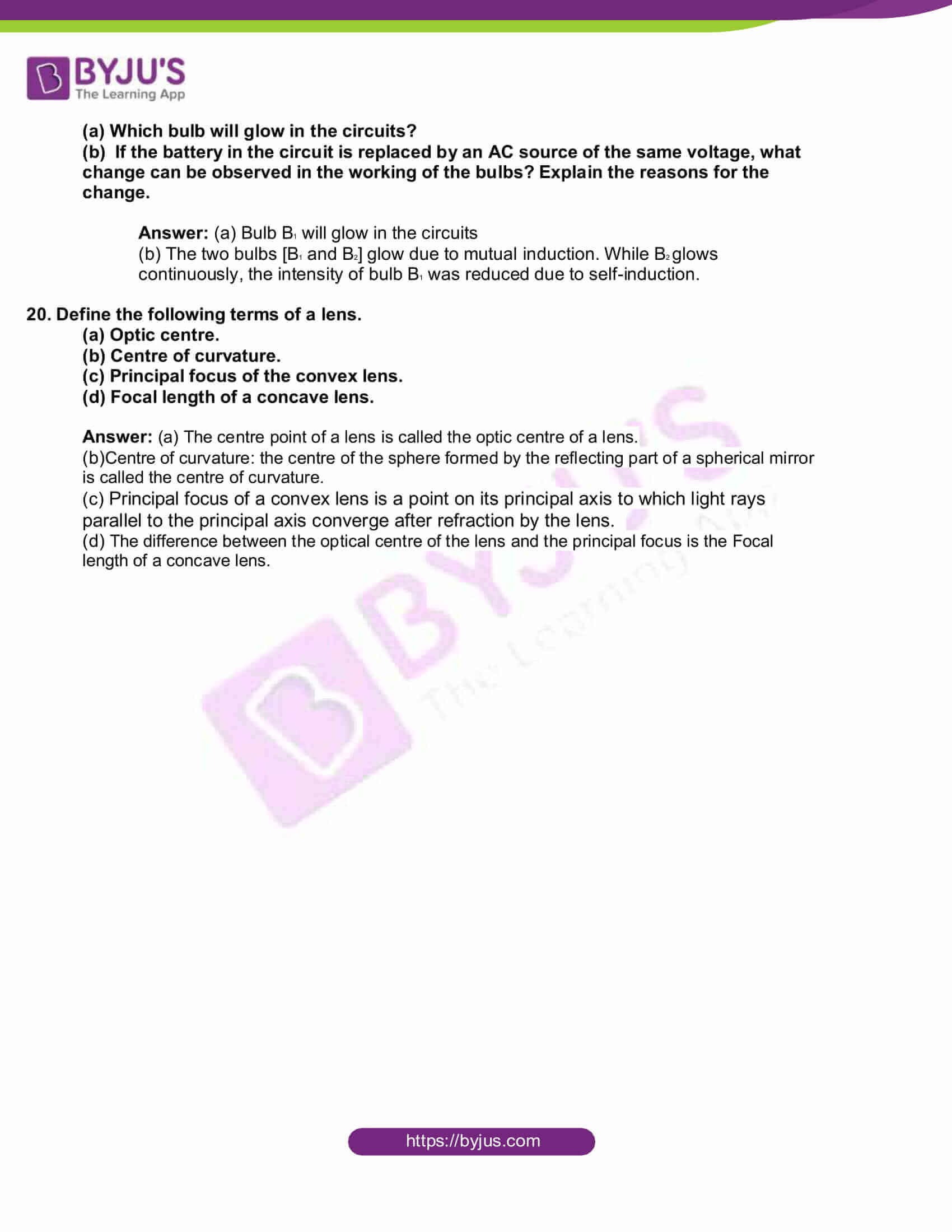 kbpe class 10 physics 2020 solutions 8