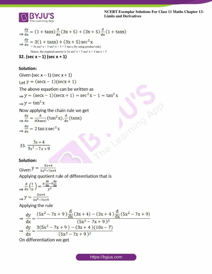ncert exemplar sol class 11 maths chpt 13 limits 16