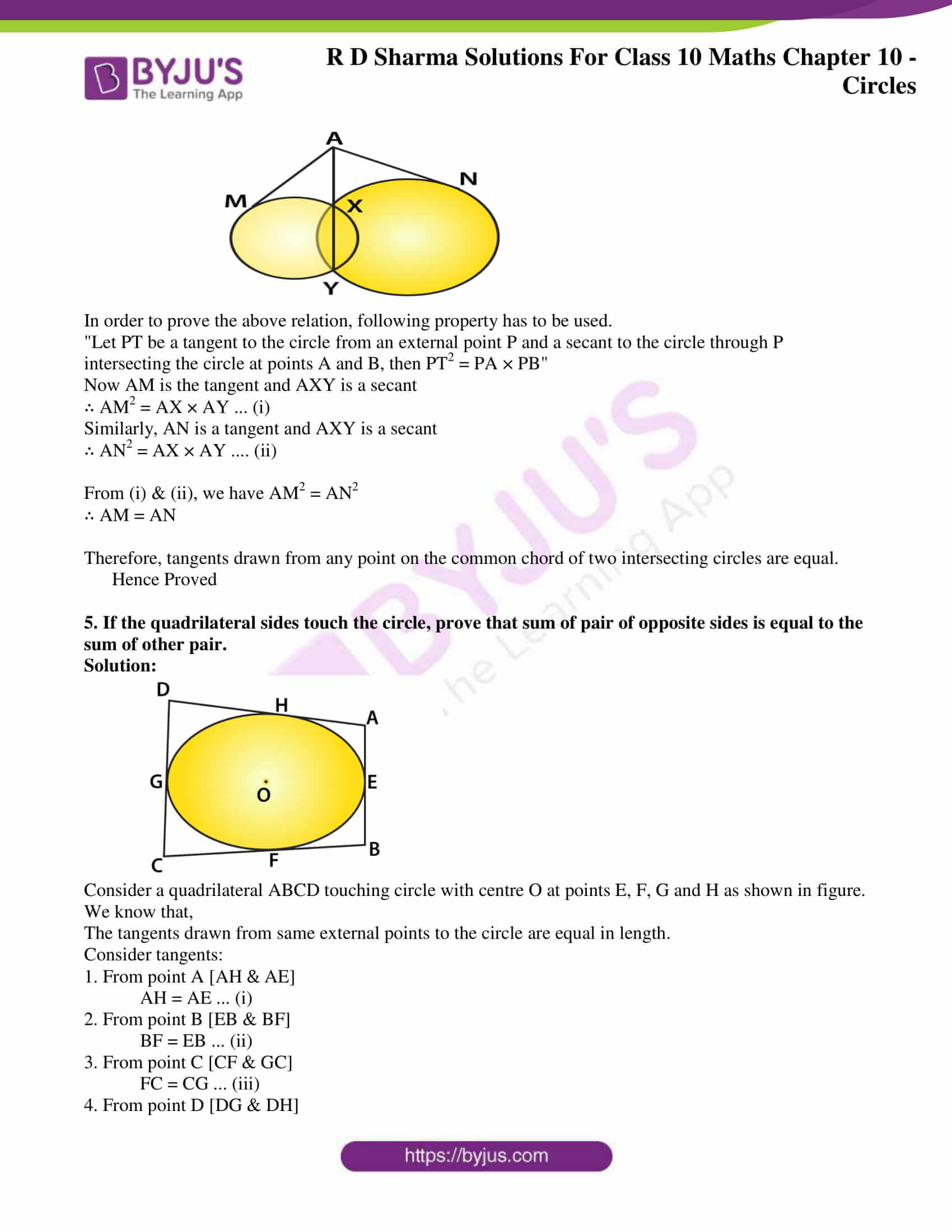 rd sharma class 10 chapter 10 circles solutions exercise 2 03