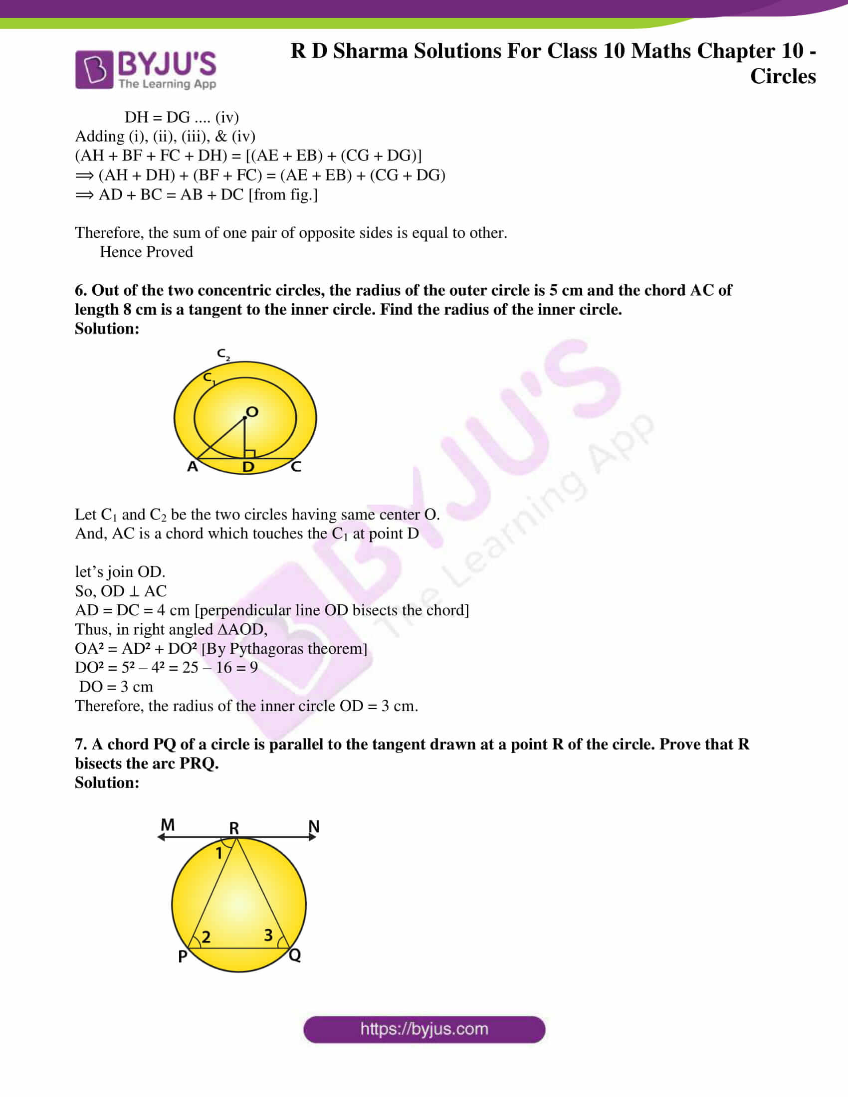 rd sharma class 10 chapter 10 circles solutions exercise 2 04