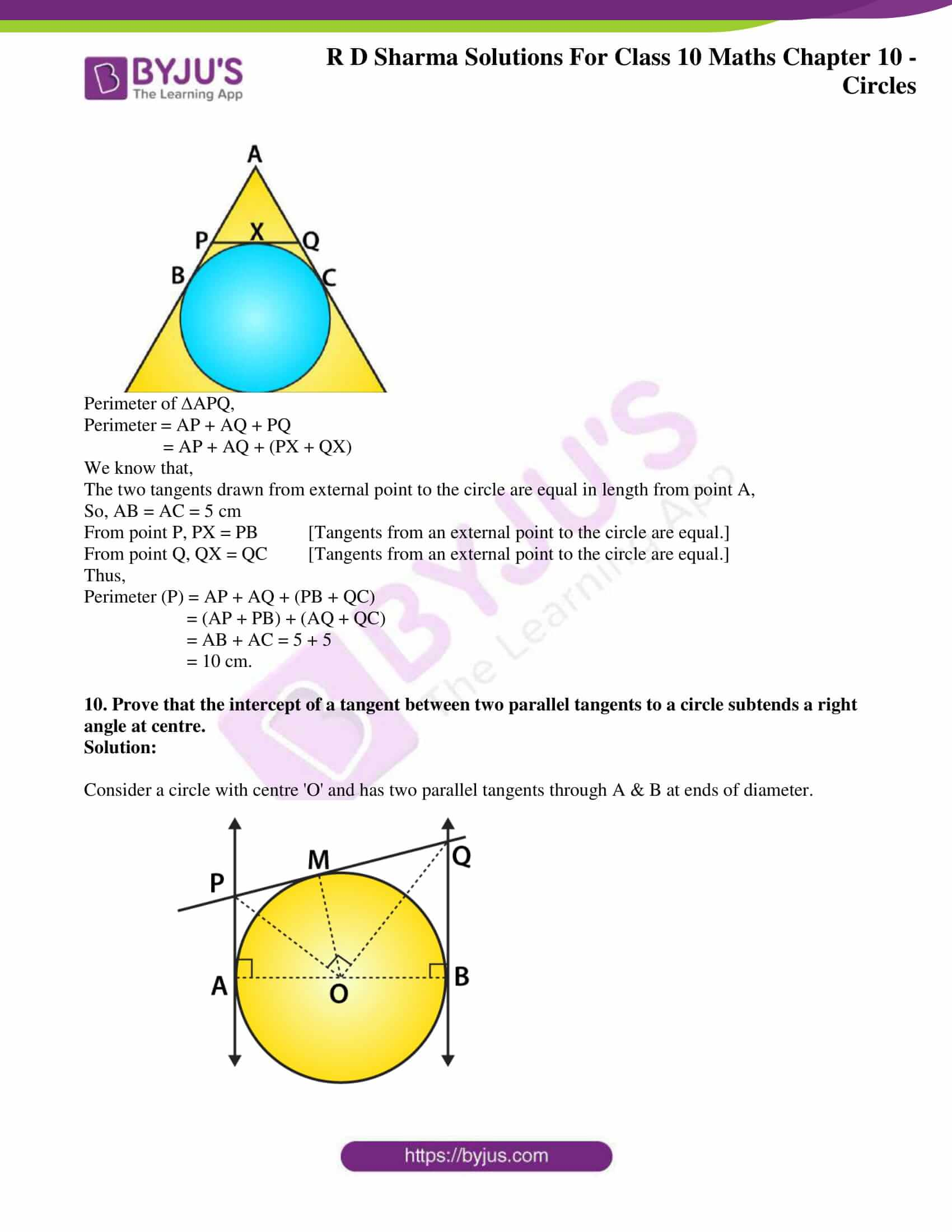 rd sharma class 10 chapter 10 circles solutions exercise 2 06