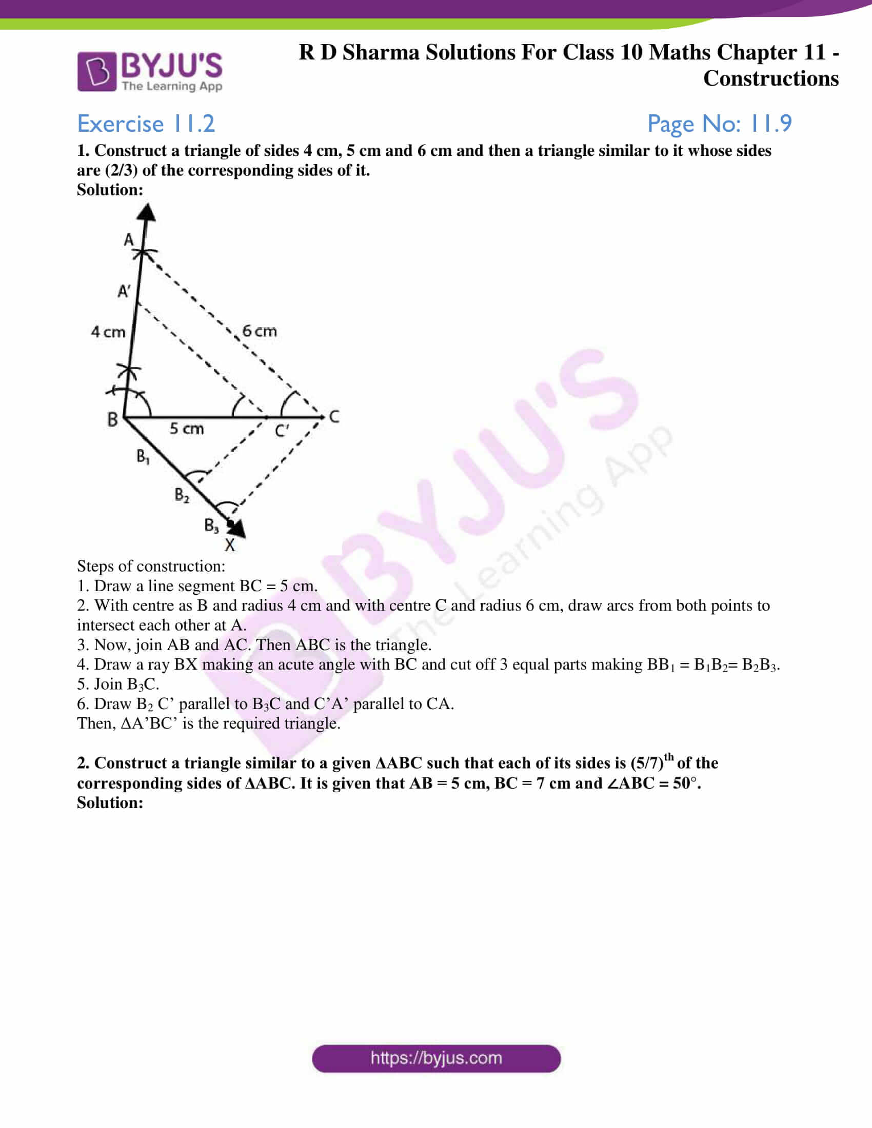 rd sharma class 10 chapter 11 constructions solutions exercise 2 1