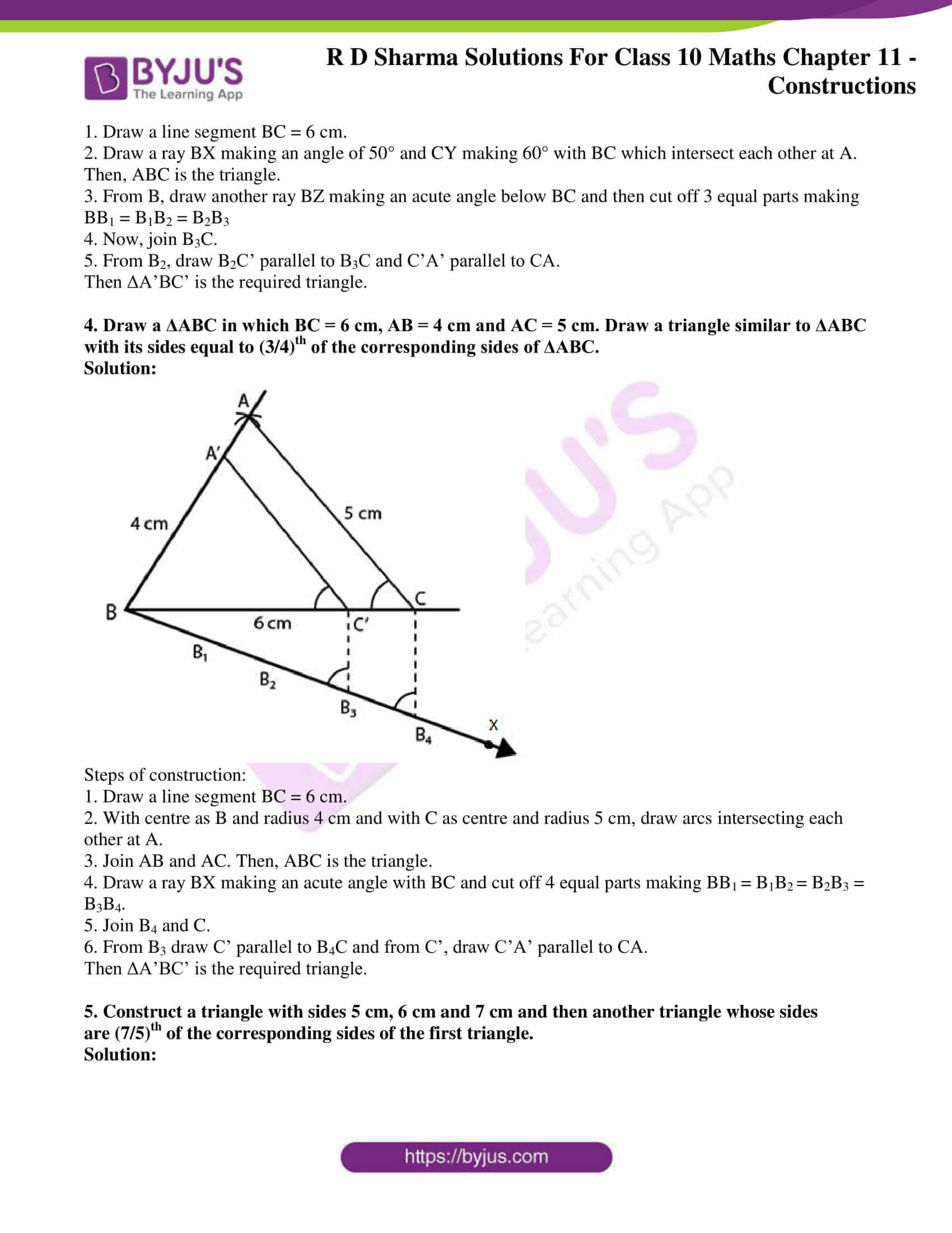 rd sharma class 10 chapter 11 constructions solutions exercise 2 3