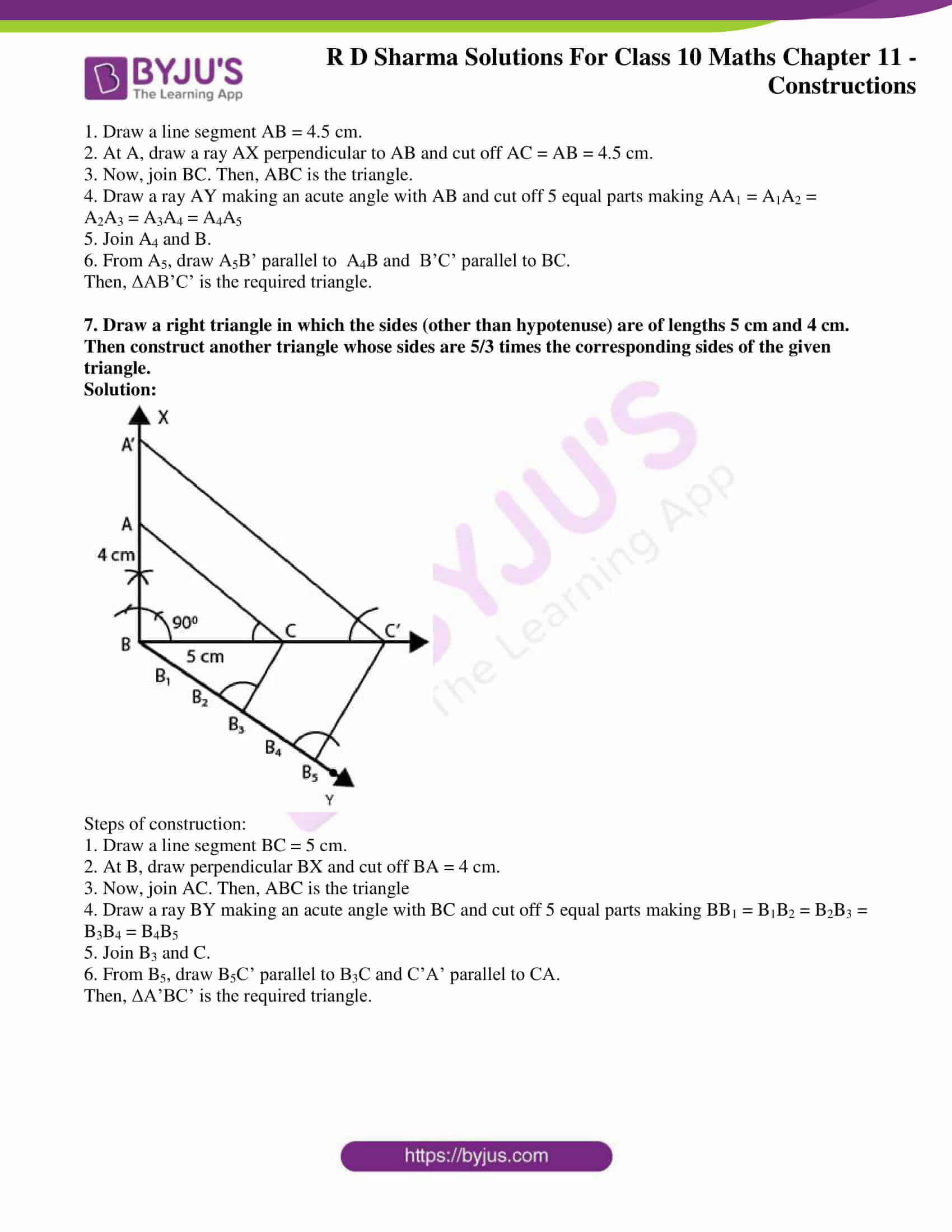 rd sharma class 10 chapter 11 constructions solutions exercise 2 5