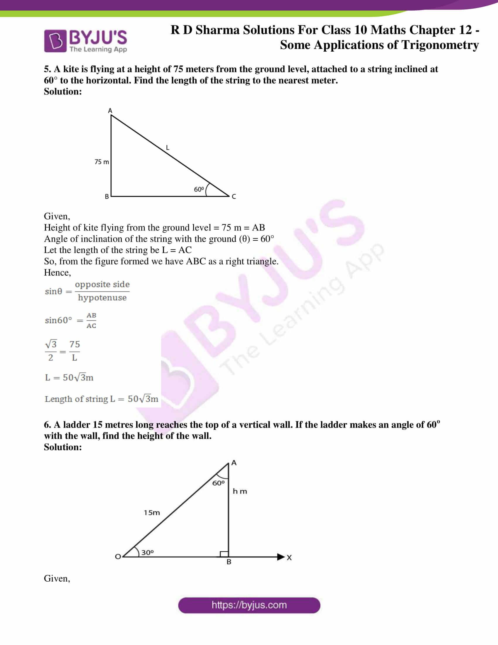 rd sharma class 10 chapter 12 applications trigonometry solutions 04