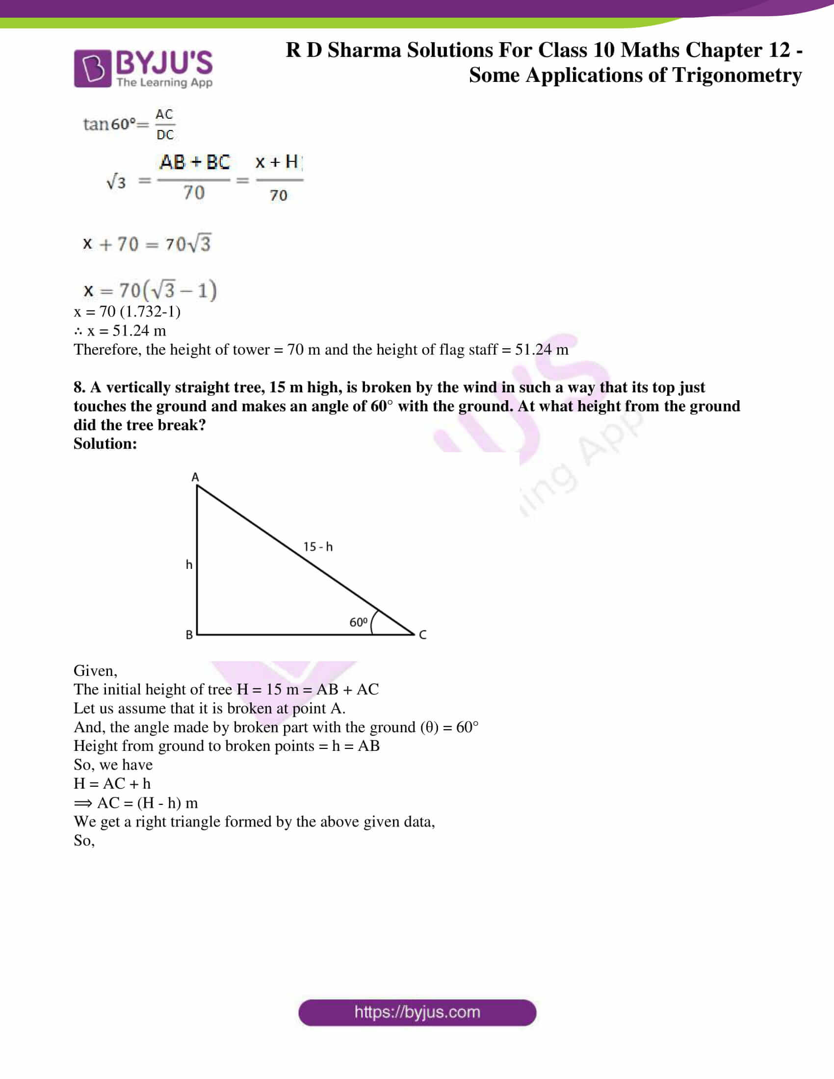 rd sharma class 10 chapter 12 applications trigonometry solutions 06