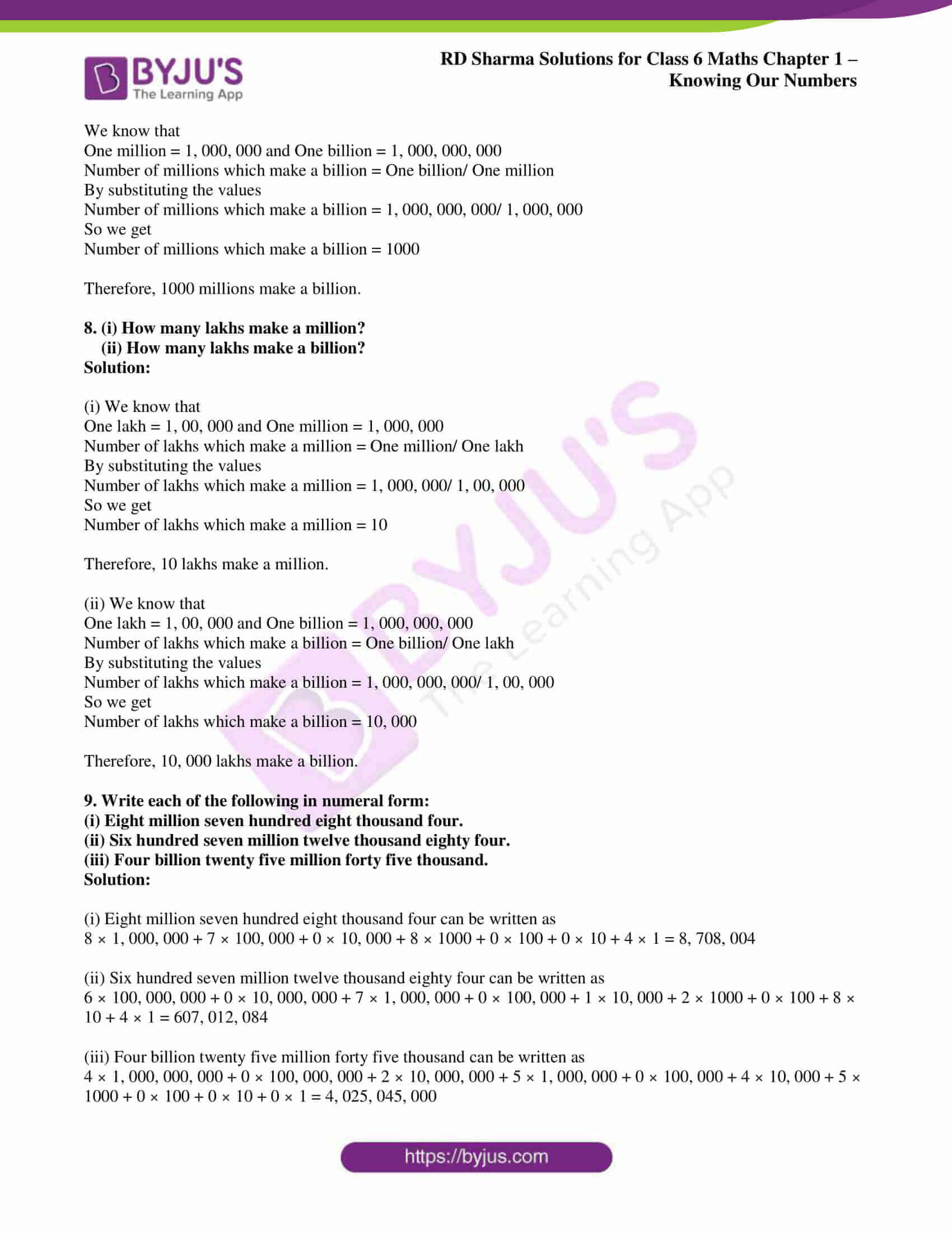 rd sharma class 6 maths solutions chapter 1 ex 2 3