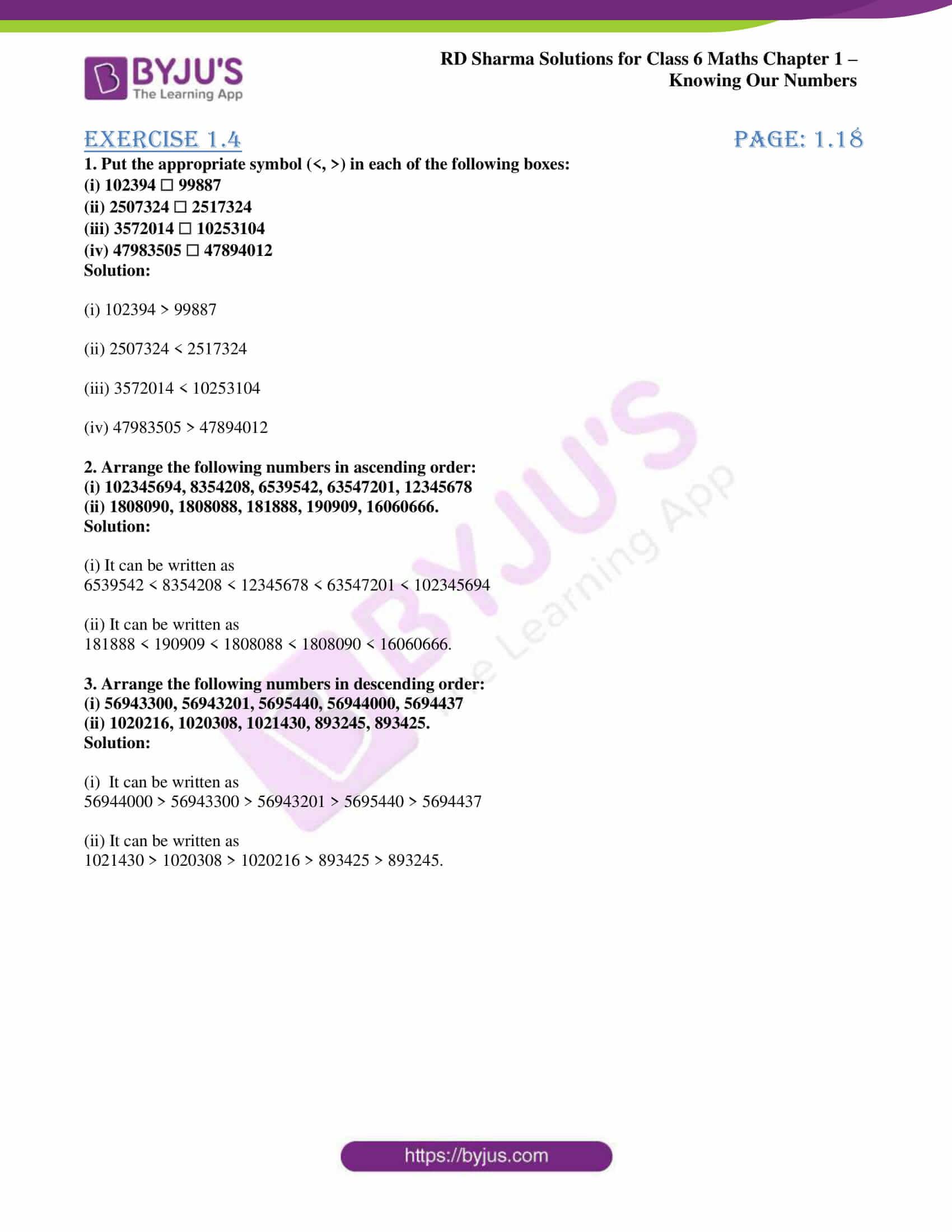 rd sharma class 6 maths solutions chapter 1 ex 4 1
