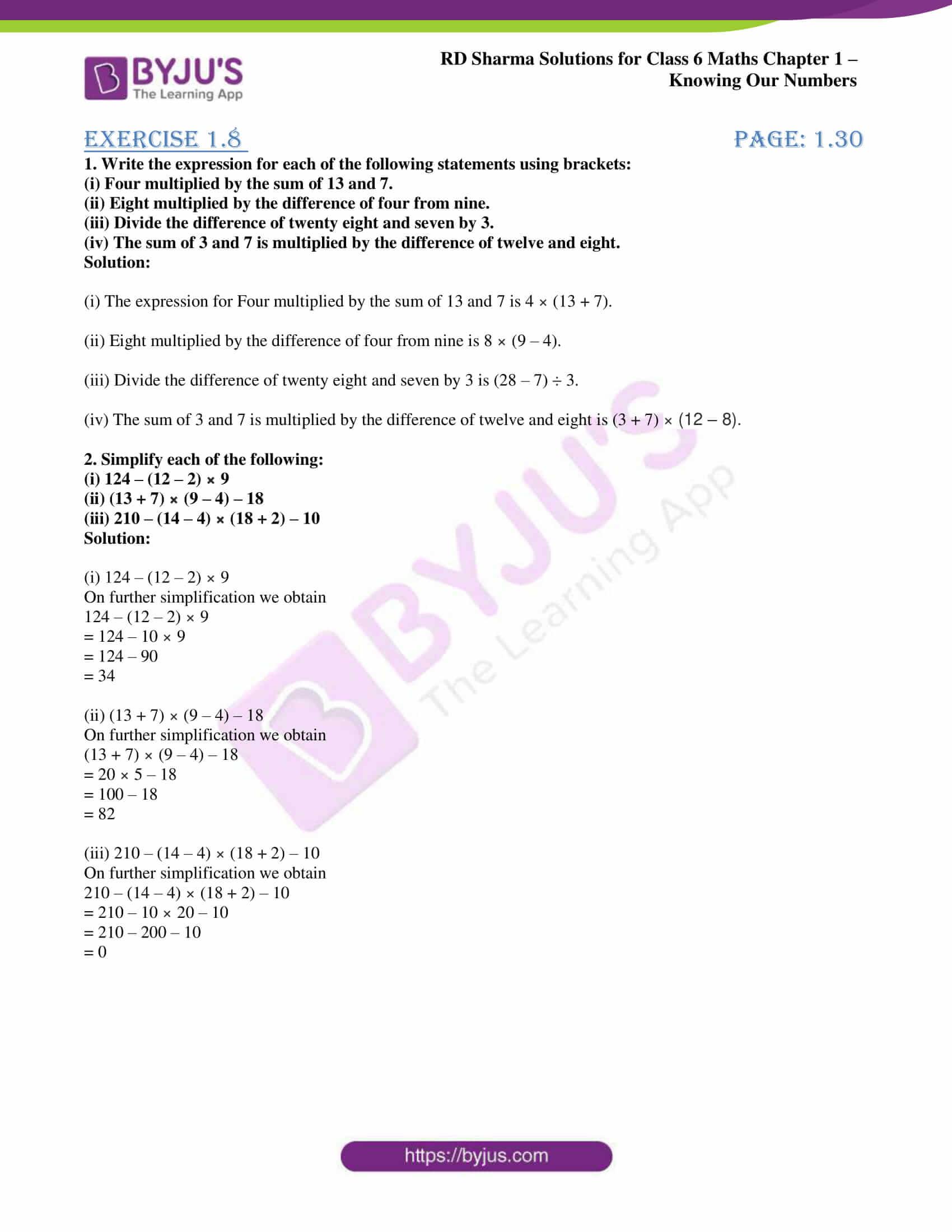 rd sharma class 6 maths solutions chapter 1 ex 8 1